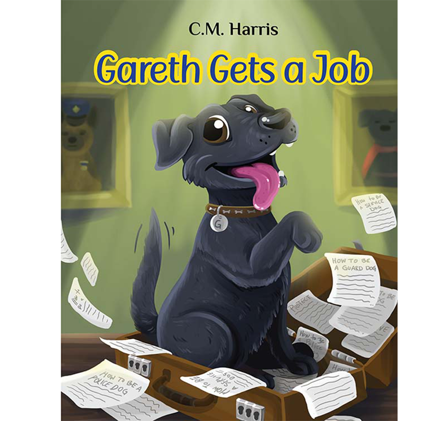 dog on a briefcase book cover